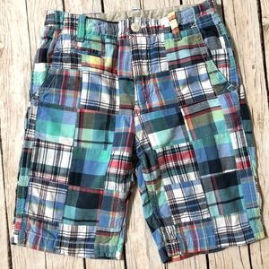 Gap Kids patchwork plaid cotton shorts Sz. 14